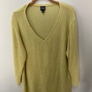 light knit lime green sweater